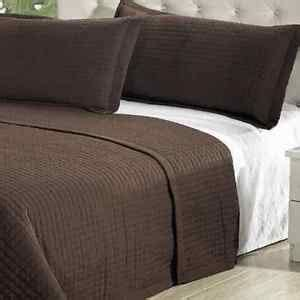 modern coverlet modern solid chocolate brown coverlet quilt bedding set