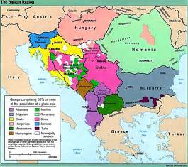 map of the country of balkan