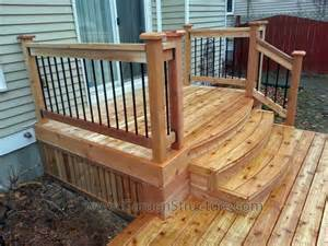 Stairs From House To Patio by Builders Of Decks In Ottawa On We Design Beautiful Decks