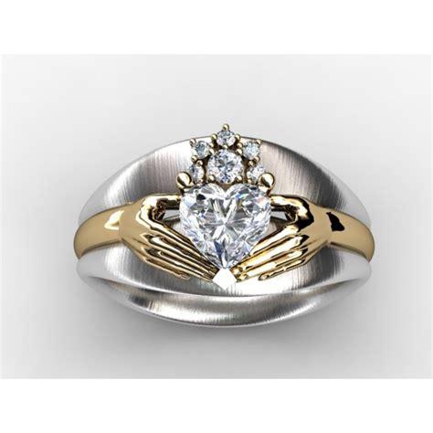 claddagh ring set claddagh engagement and wedding ring sets matvuk