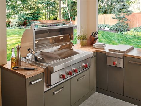 wolf outdoor kitchen a guide to outdoor entertaining ferguson press room