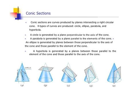 what are the four types of conic sections engineering drawing geometric construction lesson 4