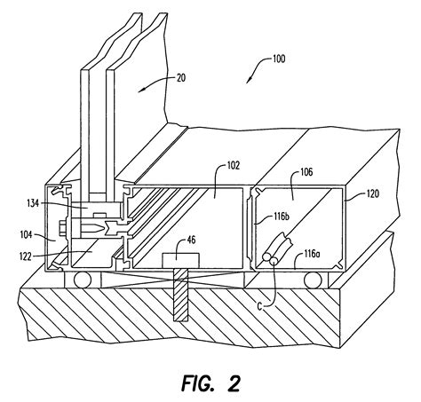 curtain wall base detail patent us7941982 integrated curtain wall and wireway