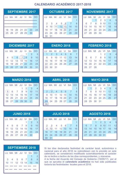 Calend Acad Mico Ufsc 2018 Calendario De La Universidad De Zaragoza 2017 2018