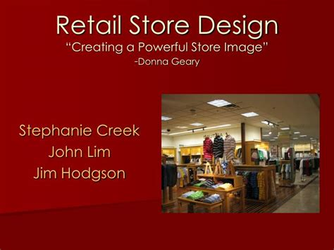 store layout design powerpoint ppt retail store design creating a powerful store image