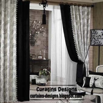 Black And White Window Curtains Black And White Curtains Top 10 Designs Of Black And White Curtains