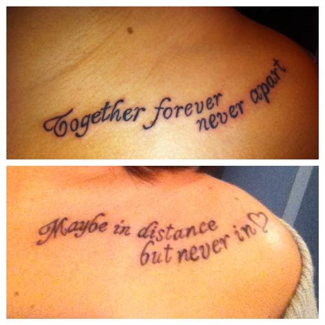 sister quote tattoos sibling quotes quotesgram