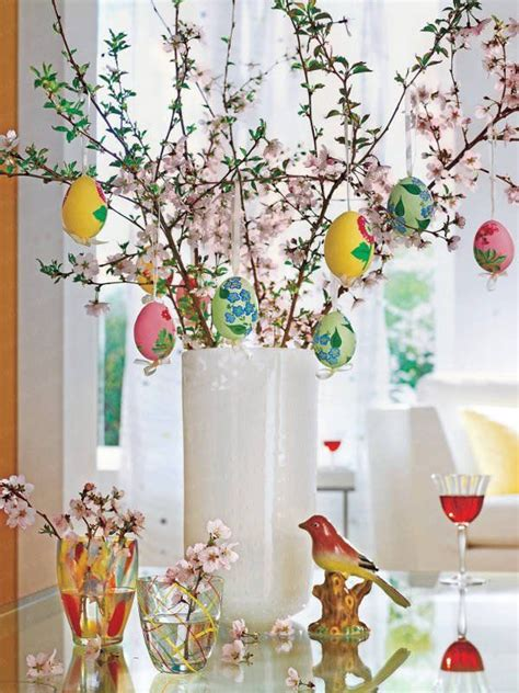 clean modern easter decorations egg tree
