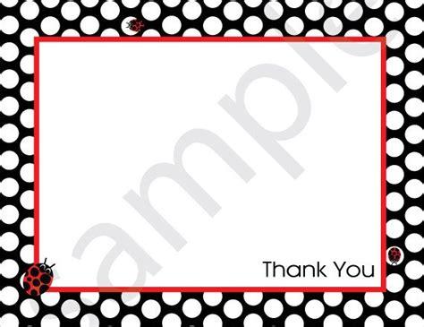 Ladybug Thank You Card Templates by Black And White Dot Border Ladybug Thank You Note Printable