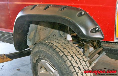 how to install rugged ridge fender flares jeep xj rugged ridge fender flare install road