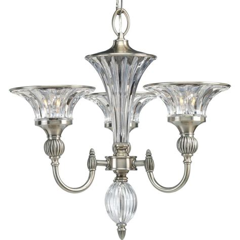 Silver Chandelier Light Progress Lighting Roxbury Collection Classic Silver 3