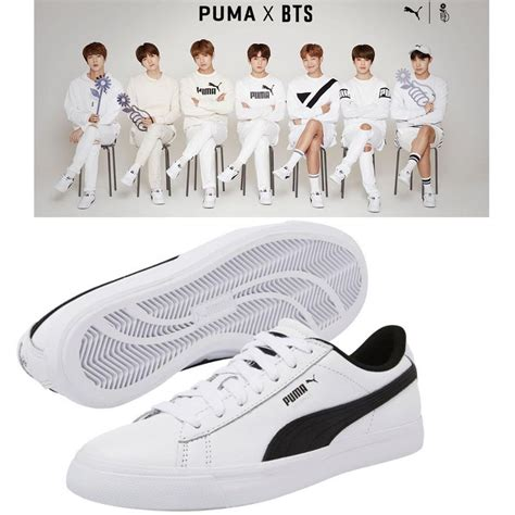 Bts X Puma Indonesia | bts official goods puma x bts court star shoes photo