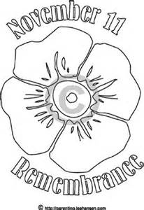 poppy template to colour poppies remembrance day and remembrance day poppy on