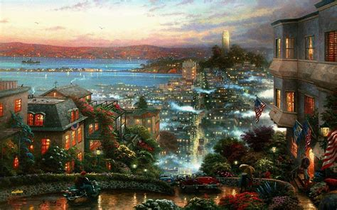 disney wallpaper thomas kinkade thomas kinkade disney wallpapers wallpaper cave