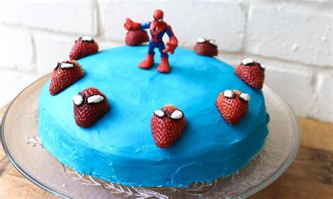 easy spiderman cake kidspot