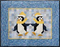 Patchwork Linux - penguin patchwork quilt pattern quot the penguins quot are a