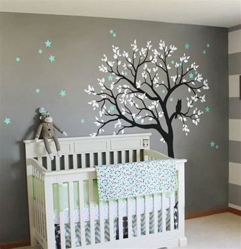 tree kids nursery decor wall decals art baby mural sticker personalised girl recipea almo