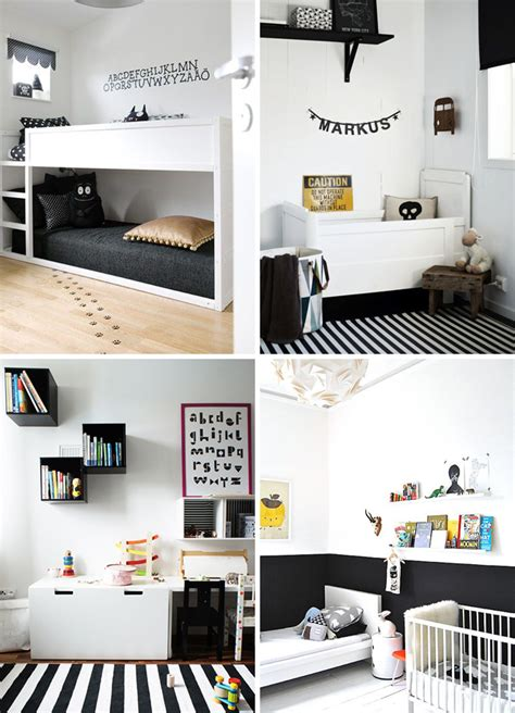 10 black and white kids rooms tiny little how to decorate a monochrome kids room room to bloom