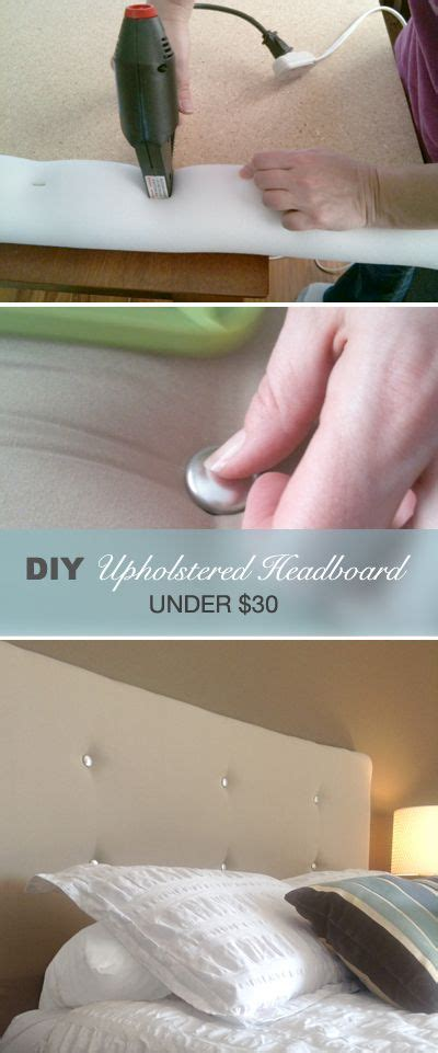bangin the headboard make a contemporary upholstered headboard for under 30
