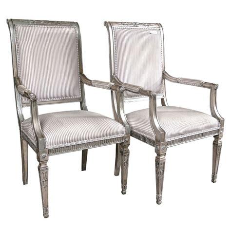 Karges Furniture by Louis Xvi Style Silver Gilt Regency Style