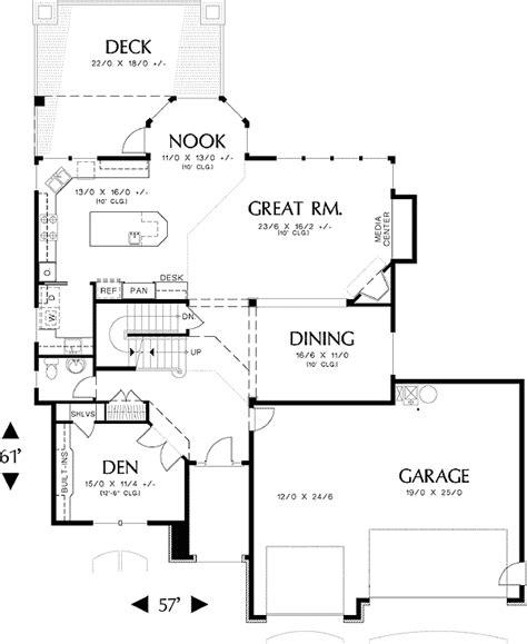 daylight basement floor plans compact daylight basement 69069am architectural designs house plans