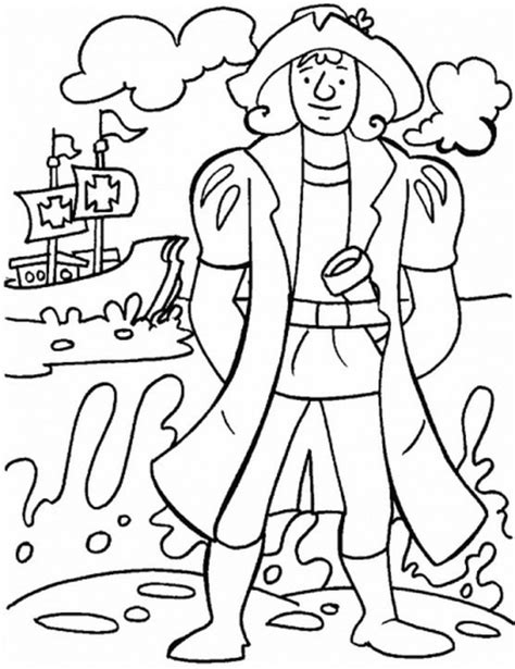 Christopher Columbus Coloring Pages Printable by Columbus Day Coloring Pages Family Net Guide To