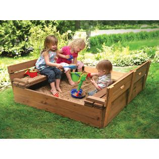 badger basket covered convertible cedar sandbox with two bench seats badger basket covered convertible cedar sandbox with two bench seats