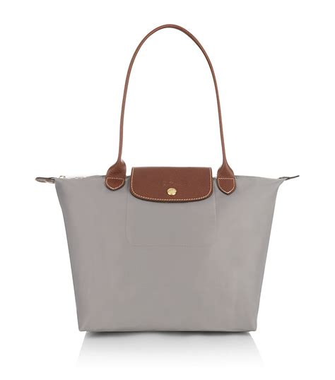longch le pliage shoulder medium bag in gray lyst