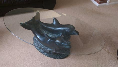 glass dolphin coffee table in poole dorset gumtree