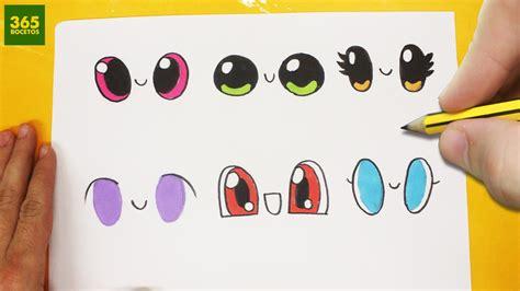 imagenes de ojos faciles para dibujar como dibujar ojos kawaii paso a paso dibujos kawaii