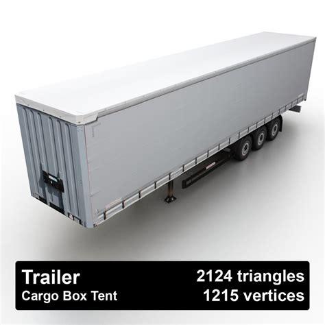 cargo box trailer cargo box tent trailer 3d model