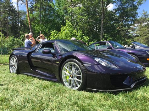 dark purple porsche one of a kind purple viola black porsche 918 spyder