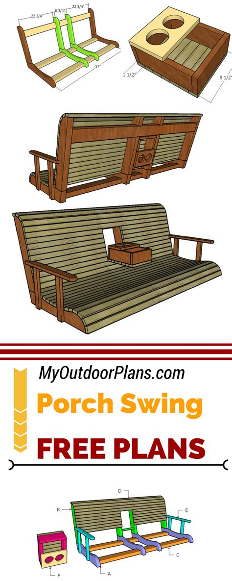 porch swing  center console plans carpentry projects