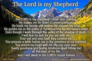Words For Comfort The Lord Is My Shepherd Prayer