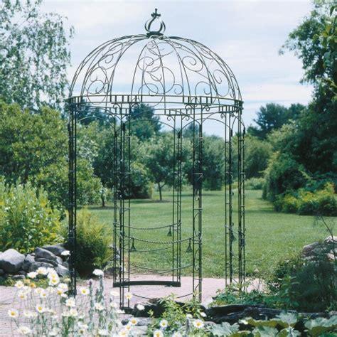 iron gazebo achla designs rhapsody 6 5 x 6 5 ft wrought iron pavilion