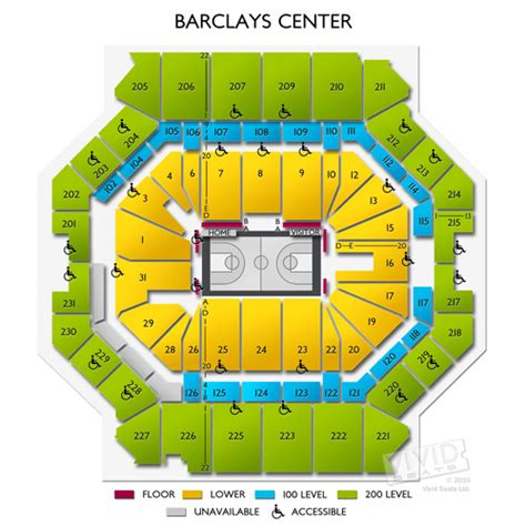 barclay center floor plan barclays center seating chart with seat numbers image