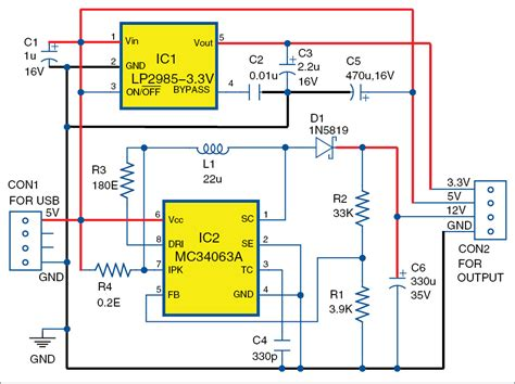 usb based triple power supply full electronics project