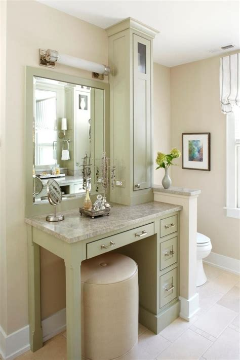 Bathroom Vanity With Makeup 25 Best Ideas About Bathroom Makeup Vanities On Pinterest Master Bath Master Bath Vanity And