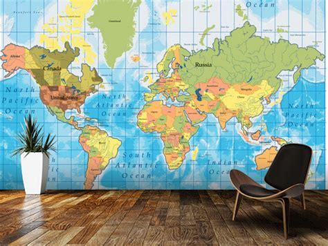 World Map Wallpaper Murals Wallpaper - aliexpress buy custom children s wallpaper 3d world