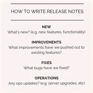 software release notes template how to write great release notes prodpad