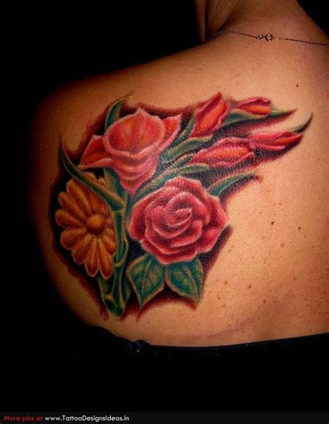 butterfly and rose tattoo designs