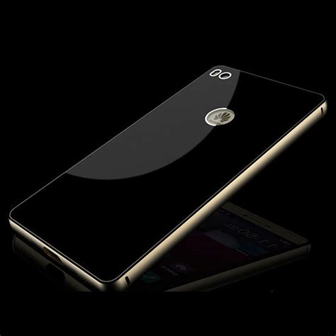 Aluminium Bumper With Mirror Back Cover For Huawei P8 Berkualitas aluminium bumper with mirror back cover for huawei p8