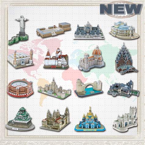 3d jigsaw puzzles for adults promotion newest famous architecture model 3d jigsaw