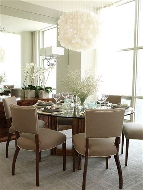 Richardson Dining Room by Glass Top Dining Table In A Square Dining Room