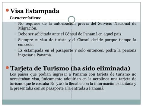 visas de turista en panama requisitos extension de visa de curso introductorio de derecho migratorio