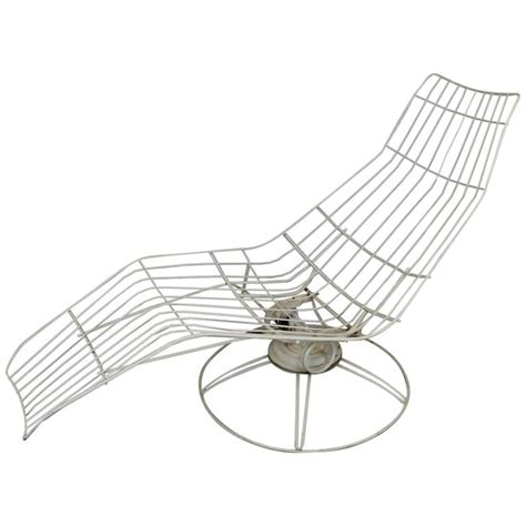 homecrest chaise lounge homecrest metal wire banana lounge chair at 1stdibs