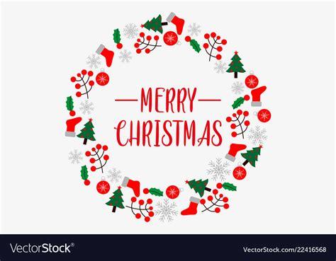 merry christmas logo royalty  vector image