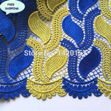 blue and gold african lace aliexpress com buy metallic materials nigeria lace cord