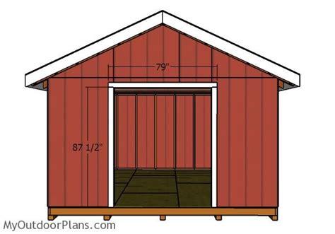 14x16 shed plans myoutdoorplans free woodworking plans 14x16 gable shed doors myoutdoorplans free woodworking