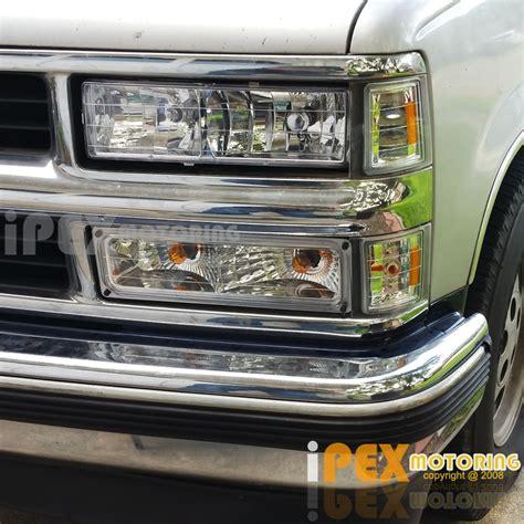 1998 chevy silverado lights 1994 1998 chevy silverado tahoe c1500 c2500 k1500 chrome